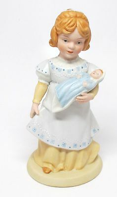 Avon - A Mother's Love Figurine - Girl Holding Doll - 1981