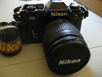 Lot of Nikon FG FILM Camera (one) and 4 FILM lenses