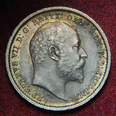 GB Edward VII Maundy twopence 2d 1905 - SUPERB!!!