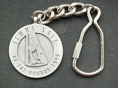 Jimmy Nail On The Boards Tour Key Ring 1998 Made By Bulldog Buckle Co.