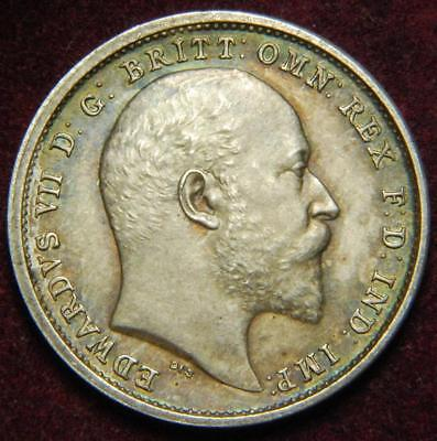 GB Edward VII Maundy fourpence 4d 1902 - GREAT!!!