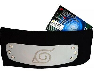 Naruto Shippuden Konoha Leaf Village Logo Black Headband Cosplay Costume **NEW**