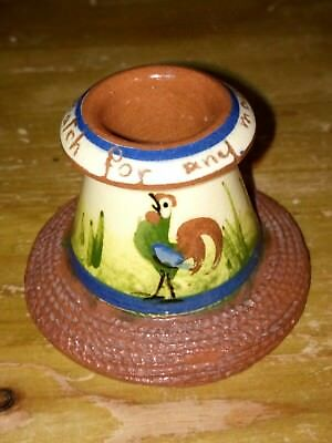 Vintage Devon Ware Motto Match Striker and Holder - A Match For Any Man - Lovely