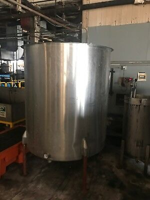 "500 Gallon Stainless Steel Tank Open Top Sloped Bottom 52"" X 60"" Straight Side"