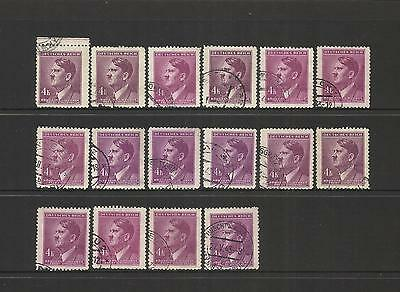 Czechoslovakia German Bohemia ~ 1942+ Definitives (A.h.) Accumulation