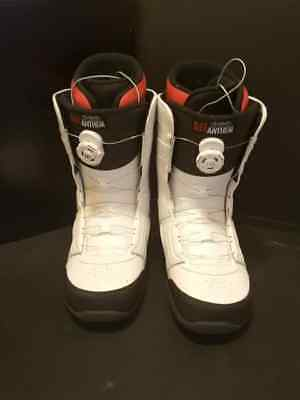 Men's Ride Anthem Boa Coiler Snowboard Boots -- White -- Size 12 -- Great Shape!