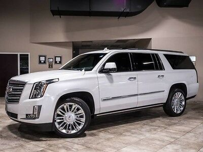2016 Cadillac Escalade Platinum Sport Utility 4-Door 2016 Cadillac Escalade Platinum ESV $98k+MSRP LOADED Gorgeous Crystal White! WOW