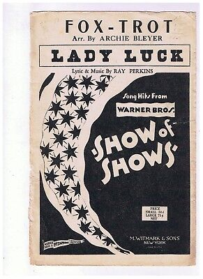 Orchestration 1st Violin Lady Luck Fox Trot Arr Archie Bleyer