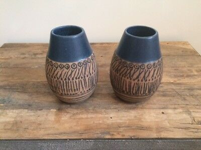 Two  Lisa Larson Ceramic Vases Granada, 1950s, sold as pair or individually