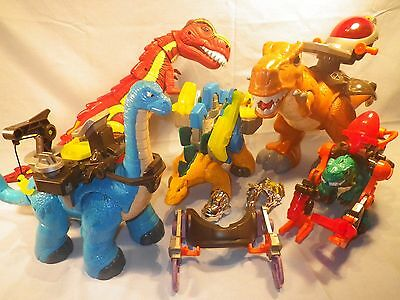 Fisher Price Dinosaur Lot Huge Lot Accessories