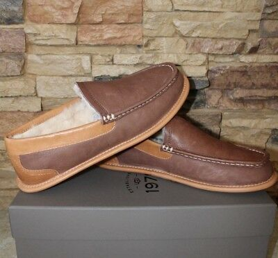 75a96251b72 NIB UGG COLLECTION 1978 Mens LORNE Leather Slippers Loafers CHOCOLATE $250!  9