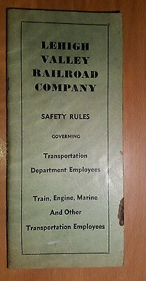 "Lehigh Valley Railroad Company ""Safety Rules"" December 1,1965"