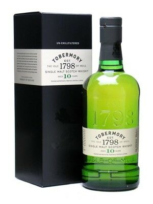 Tobermory 10 Year Old Single Malt Scotch Whisky 700ml