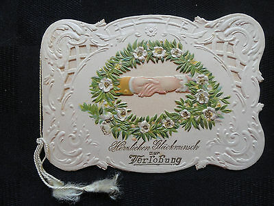 Rare Antique German Language Wedding Engagement Card - Fancy January 30, 1901