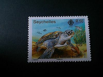 Seychelles. Year 2014.green Sea Turtle. Mnh.