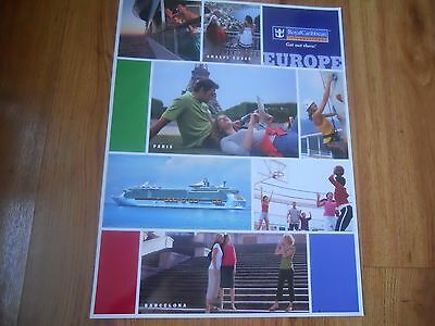 ROYAL CARRIBEAN  large plastic coated advertising POSTER