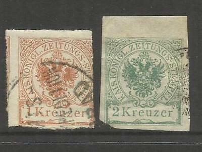 Austria Osterreich ~ 1890 Imperial Journal Stamps (Used)
