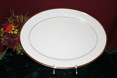 """Lenox Solitaire White 16"""" OVAL PLATTER large NEW USA second"""