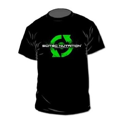 Scitec Nutrition T-Shirt Great Quality Black Fitness Gym Bodybuilding