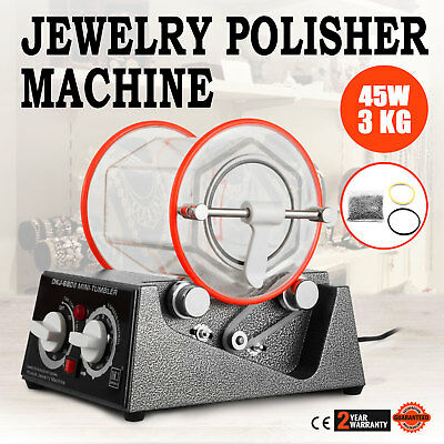 3Kg Rotary Tumbler Jewelry Polisher Finisher Polishing Digital 60W Tumbling