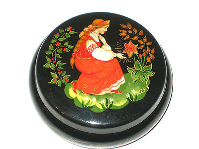 RUSSIAN LACQUER METAL BOX c.1993       (0.1/H)
