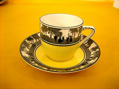 FOLEY CHINA SILHOUETTE COFFEE CUPS&SAUCERS scratches, (0.3/463)