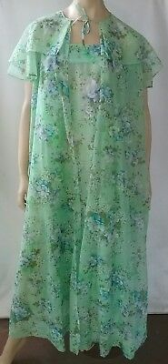 VINTAGE sheer material 2 piece skirt or dress and cape