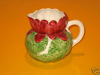 """SHORTER & SON HAND PAINTED """"WATER LILY """" JUG c.1993"""
