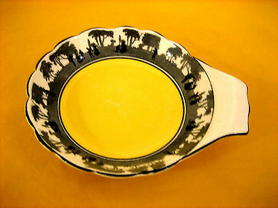 "ART DECO FOLEY CHINA SILHOUETTE BOWL WITH HANDLE dia 5.5""  chip on underrim"