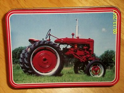 Farmall Tractor Collector Tin And Knife New (Great Gift)