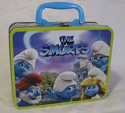 The Smurfs 2011 Pressman Metal Lunch Box with Puzzle lunchbox