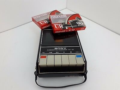 Vintage Sony Tape Recorder TC-61 Stereo Cassette-Corder Tape Recorder WORKING
