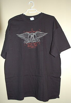 AEROSMITH Licensed and Brand New 'Distressed Wings' Rock Memorabilia T-Shirt