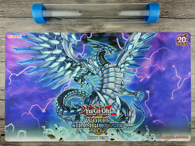 YuGiOh Blue-Eyes Chaos MAX Dragon Custom Playmat TCG Mat Free High Quality Tube