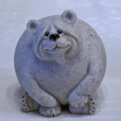 Quarry Critters Bluberry Bear New MIB Rolly Polly Figurine NOS Ol' Store Stock