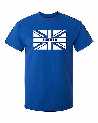 Linfield Belfast Ulster Fans Themed Union Jack Style T-Shirt All Sizes
