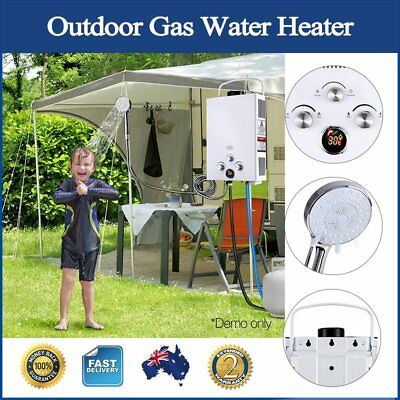 Outdoor Gas Water Heater Hot Shower Lightweight Portable Dry Burning Protection