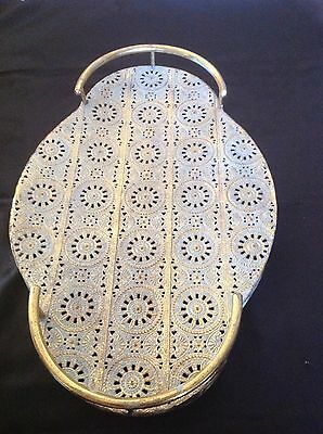 Metal morroccan style serving tray large size