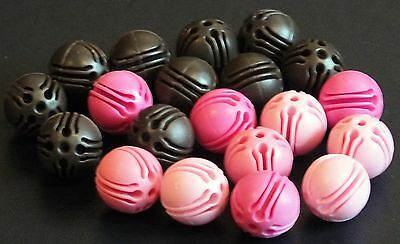 """ELLO BALL CONNECTERS x 22 """"BROWN / PINK"""".  VGC. UK DISPATCH"""