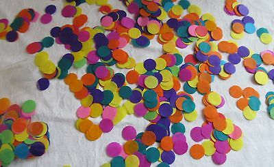 1000 x Party Confetti Rainbow Tissue 1/2 ' Circles Party/Table Decoration/Crafts