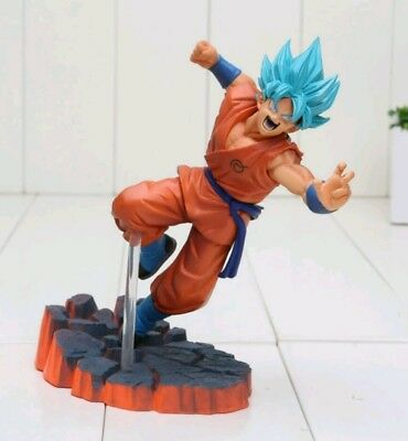 Statuetta modellino Action Figure Goku SSGSS super sayan God Dragon ball Z Super