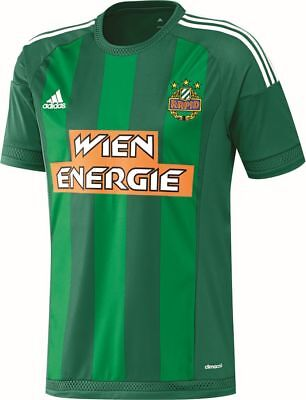 Adidas Mens SK Rapid Wien Football Soccer Home Jersey Shirt 2016 2017 Green Whit