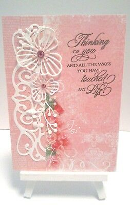 Handmade Birthday Card: Pink Roses