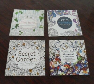 Adult Coloring Books, Lost Ocean created by Same Secret Garden Author. Set of 4