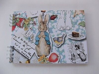 "6""x 4"" Peter Rabbit design scrapbook photo/message album Baby Shower New Baby"