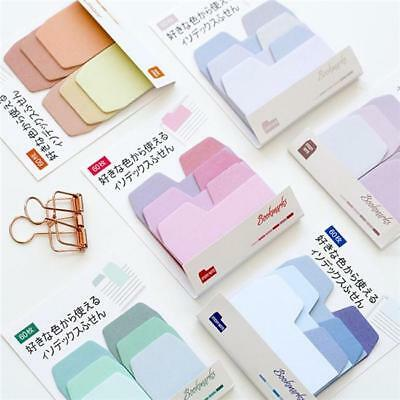 1 Set Cute Memo Sticker Bookmark Index Tab Pads Flags Sticky Notes Notepad FW