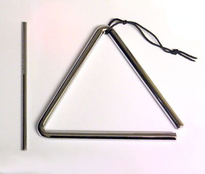7 inch/ 18cm Quality Steel Triangle & Beater Percussion School Band UK