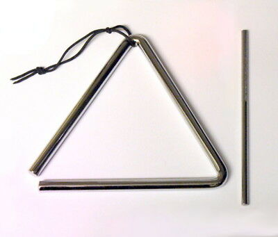 6 inch/ 15cm Quality Steel Triangle & Beater Percussion School Band UK