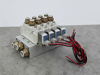 SMC 4 Bank Miniature Solenoid Valve Assembly SS5Y5-X359 24VDC