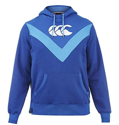New Canterbury CCC Cut and Sew Chevron Hooded Rugby Large Sweatshirt - E553335